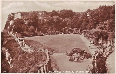 EASTBOURNE, HOLYWELL RETREAT. Early 1950s Real Photographic Postcard  VGC