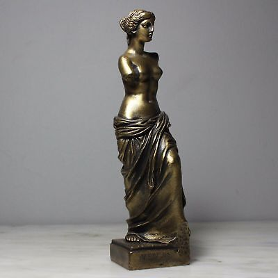 Big Aphrodite Greek Goddess Bronze Finish Handmade Statue Alabaster 40cm/15.7""