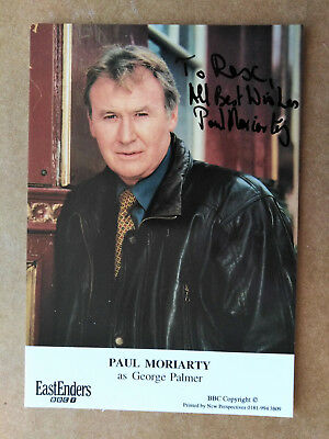 Eastenders PAUL MORIARTY - GEORGE PALMER Original Signed Card - Dedicated to REX