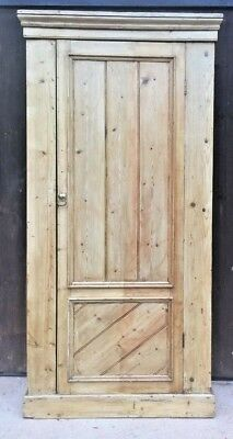 Vintage Stripped Pine Single Wardrobe / Pine Hall Robe ( Delivery Quote ? )