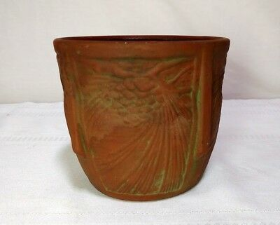 Peters & Reed, Moss Aztec Pine Cone Jardiniere' Planter, Arts & Crafts, Htf~~~