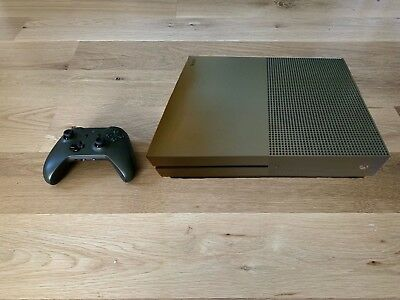 Xbox One S Military Green Special Edition 1TB Console Battlefield 1 with 3 games