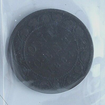 1884 Canada 1 Cent Penny VG-8 Red and Brown Obverse 1