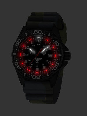 KHS Tactical Watches Red H3 Army Watch Rubber Band Camouflage Oliv KHS.RE.DC3