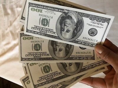 10 X prop money double sided 100 dollar bills ($1000) Looks Very Real!!!!
