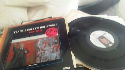 "frankie goes to hollywood two tribes 12"" VINYL RECORD NEAR MINT"