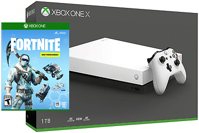 Xbox One X 1TB Limited White Edition 4K Game Console Fortnite Frostbite Bundle