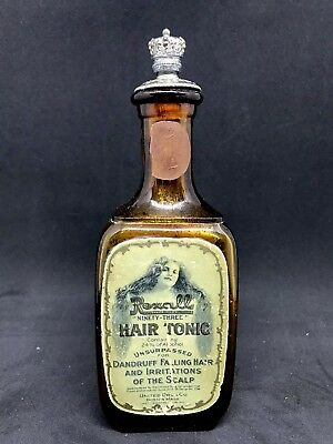 Rexall Hair Tonic Bottle - Very Good Condition