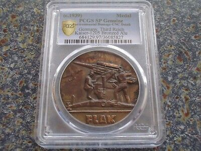 Germany Third Reich Soldiers Flag Air Defense / Eagle 1939 Medal PCGS SP UNC D.