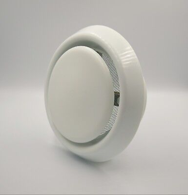 White Ceiling Round Air Vent Grille 95mm - 150mm Supply / Exhaust Duct Air Valve