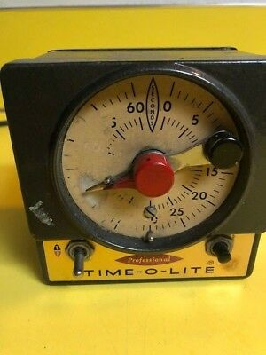 Photo Time-O-Lite Darkroom Timer P-59 115V 60 Cycles Professional Photography
