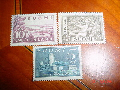 Finland (3) 1930-1938 Used Stamps Mint Lightly Hinged Nice