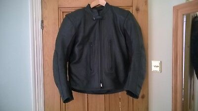 Crowtree Black Leather motorcycle jacket mens small