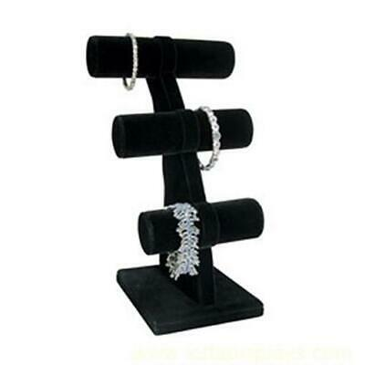 Small 3 Tier T-Bar Bracelet Display Stand - Black