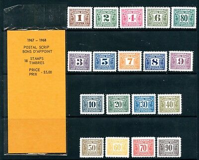 Weeda Canada FPS23/58 VF MNH opened package, 1967 Postal Scrip revenues CV $383+