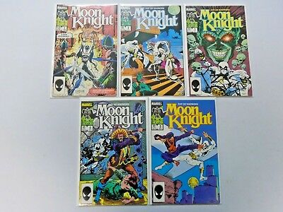 Moon Knight run #1 to #5 - Direct - Second 2nd Series - see pics - 8.0 - 1985