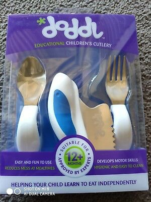 Doddl Educational Children's Cutlery - Transforming Meal Times- blue