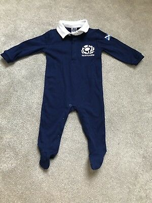6 Nations - Baby Scotland Rugby Babygrow 6-9 months