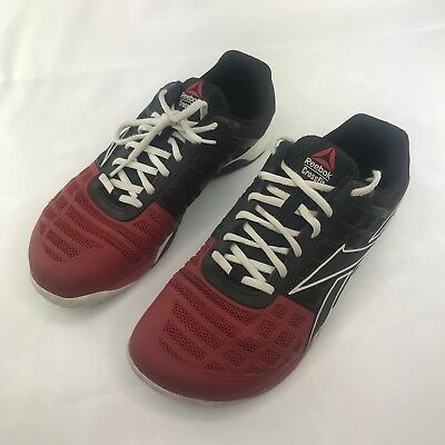b459c7874327df Reebok Men Crossfit Nano 3.0 Lace Up Running Shoes Red Black Size 9 V47094  EUC