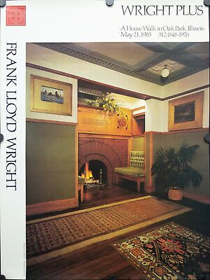 1976 A House Walk in Oak Park Illinois by Frank Lloyd Wright Poster Vintage