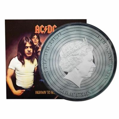 2018 $2 Dollar Highway to Hell AC/DC 1/2 Oz Silverfoil Coin Note Cook Islands