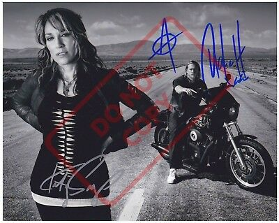 8.5x11 Autographed Signed Reprint Photo Katey Sagal Charlie Hunnam Sons Anarchy