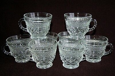 Set of 8 WEXFORD Punch Cups ~ Diamond Quilted ~  Anchor Hocking