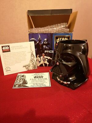 Vintage 1996 First Edition Star Wars Classic Collectors Darth Vader Figural Mug