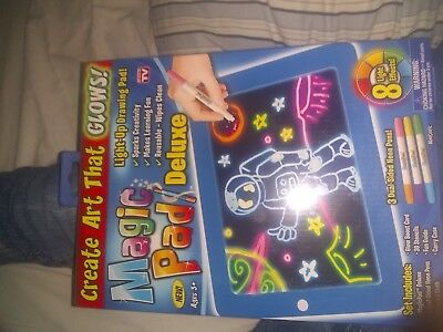 Magic Pad As Seen On TV, Light-Up Drawing LED Board ,Create Art That GLOWS! New!