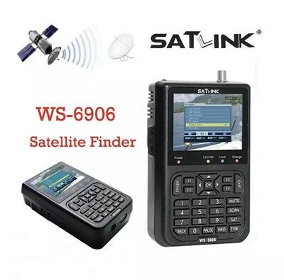3.5'' SATlink WS-6906 DVB-S FTA Data Digital Satellite Signal Finder Meter LCD