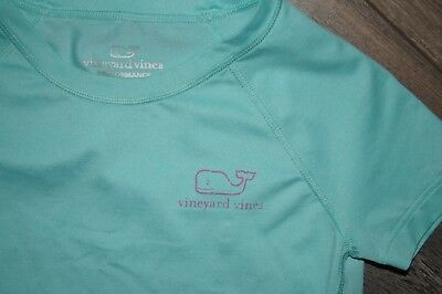 Vineyard Vines Girts Shirt Size 3T EUC Performance Tee Aqua