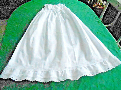Antique Baby Slip, Handmade Victorian,with White Work And Bobbin Lace, 1880