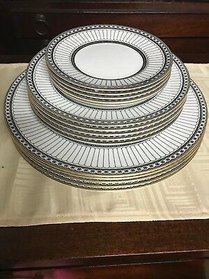 Wedgwood Bone China COLONNADE BLACK (set of 3) is in EXCELLENT CONDITION