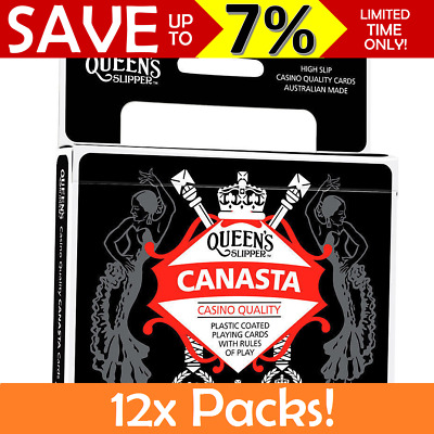 12x BULK Queen's Slipper Canasta Playing Cards Double Decks Casino Quality Guide
