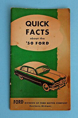 Ford Quick Facts About the 1950 Ford Salesman Brochure 62939-6J5978 Nice!