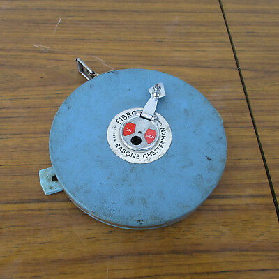 Very Old, Vintage Rabone Chesterman, 100Ft. Tape Measure.  England.  Collectible
