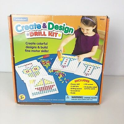 Lakeshore Create Design Drill Kit Kids Activity Project 1999