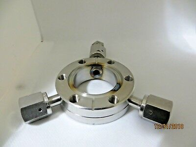 "Vacuum Flange  Adapter 2.75"" double side CF to Cajon 316SS  Female VCR"
