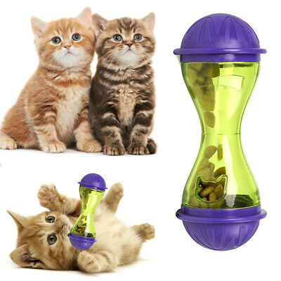 Cat Dog Feeder Plastic Funny Pet Food Dispenser Treat Ball Puppy Leakage Food