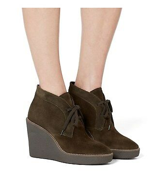 a5f130e0f350 Aquatalia New Vianna Chocolate Brown Women s Wedge Booties Size 10  395