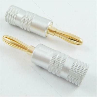 24K Gold Plated Banana Plug Adapter Audio Connector FOR Nakamichi Speaker