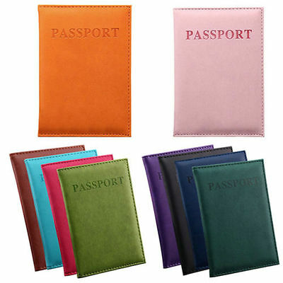 Dedicated Leather Travel Passport ID Card Cover Holder Case Protector Organizer