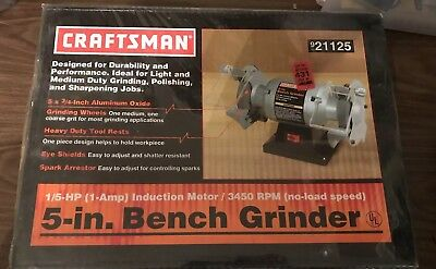 Astonishing Craftsman 8 Bench Grinder New Open Box 1 4 Hp 3450Rpm Model Bralicious Painted Fabric Chair Ideas Braliciousco