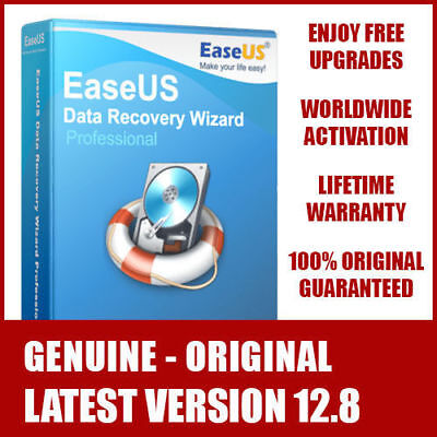 EaseUS Data Recovery Wizard v12.8 - LIFETIME License FREE Upgrades