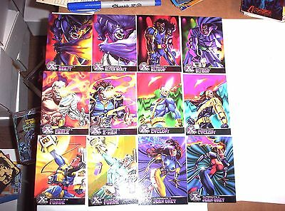 1995 Marvel Fleer Ultra X-Men Chromium Alternate X Insert 20 EMBOSSED Card Set!