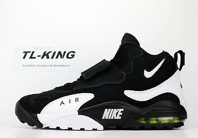 8a377b5725a0c1 Nike Air Max Speed Turf Deion Sanders Black White Voltage Yellow 525225-011  BI