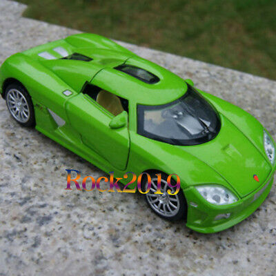1:32 Koenigsegg Diecast Black/Blue/Green/Orange Colors Car Model w/Sound Light
