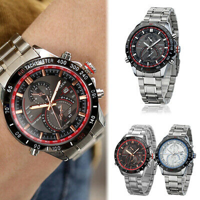 CURREN Mens Fashion Date Stainless Steel Army Military Sport Quartz Analog Watch