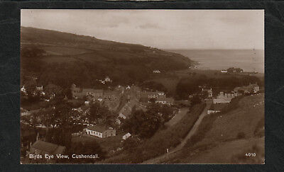 e3200)    VINTAGE RP POSTCARD SHOWING BIRDS EYE VIEW OF CUSHENDALL IN  IRELAND