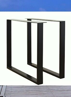 steel  table Legs square shape,bench, coffee, dinning tables 50cm wide 70cm tall